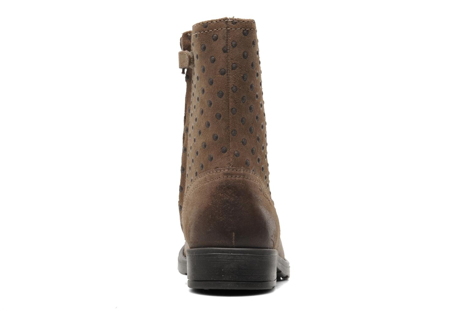 Ankle boots Geox JR SOFIA A Beige view from the right