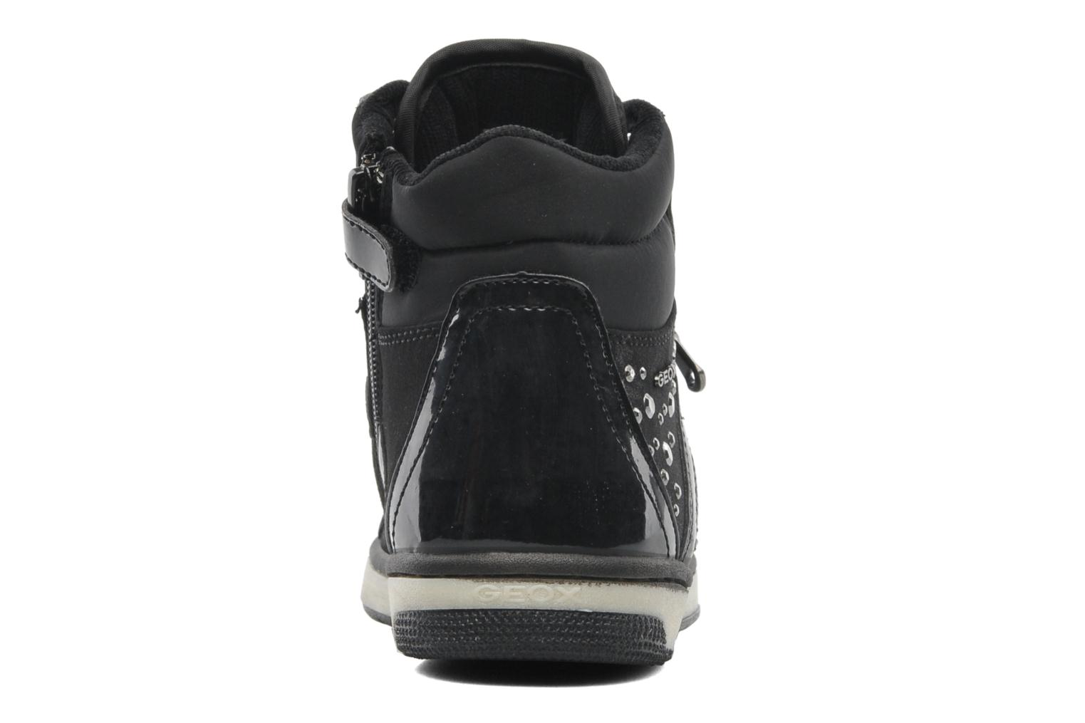 Trainers Geox JR CREAMY C Black view from the right