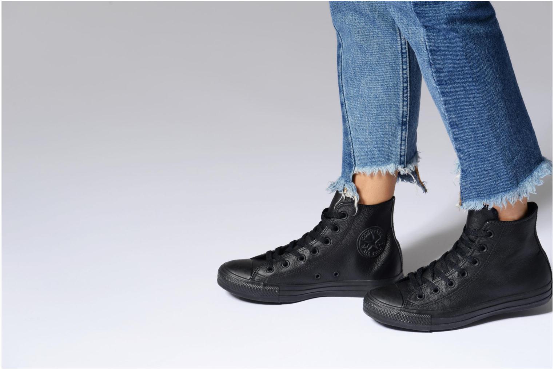 Baskets Converse Chuck Taylor All Star Mono Leather Hi W Blanc vue bas / vue portée sac