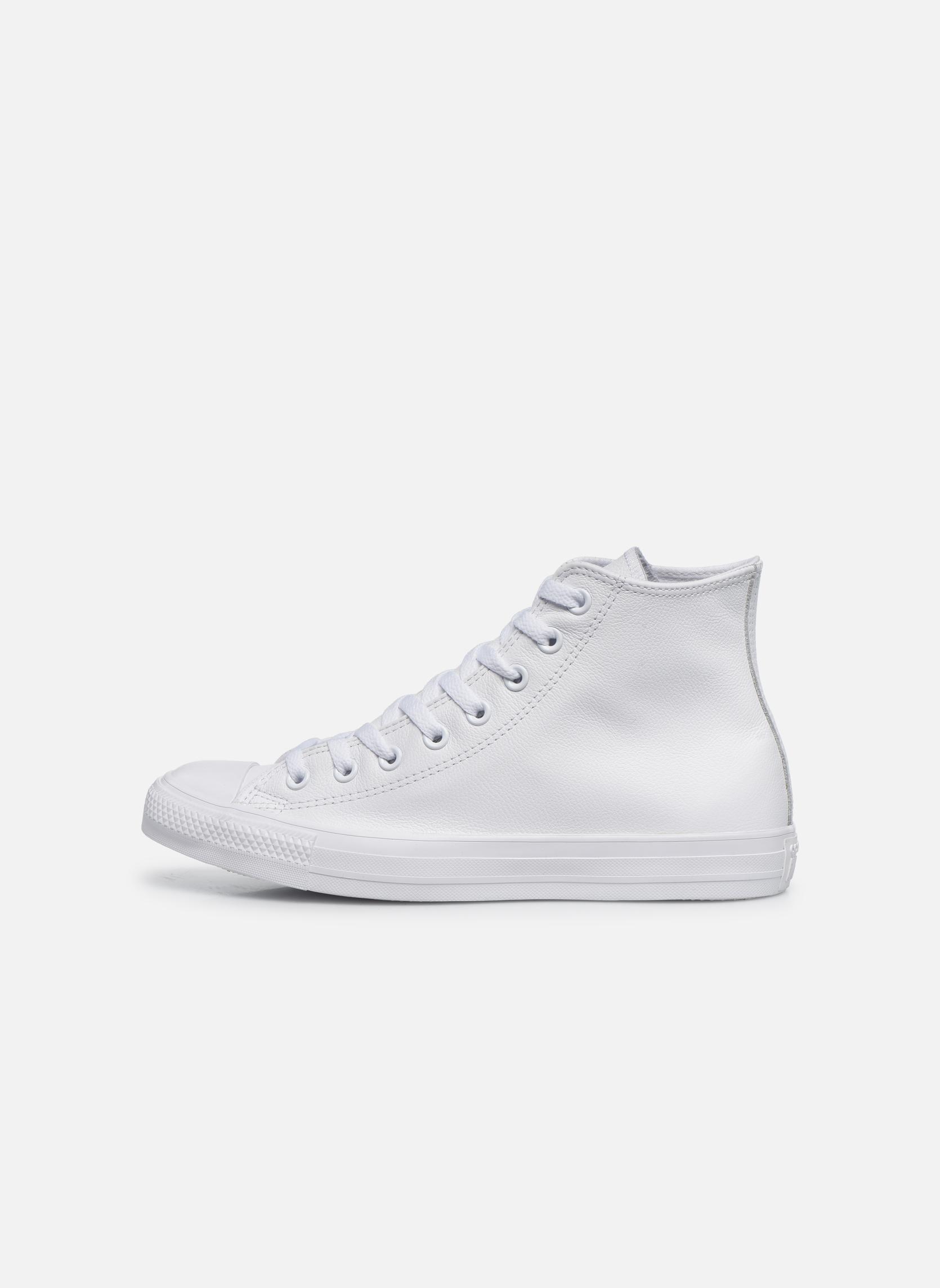 Chuck Taylor All Star Mono Leather Hi W Blanc