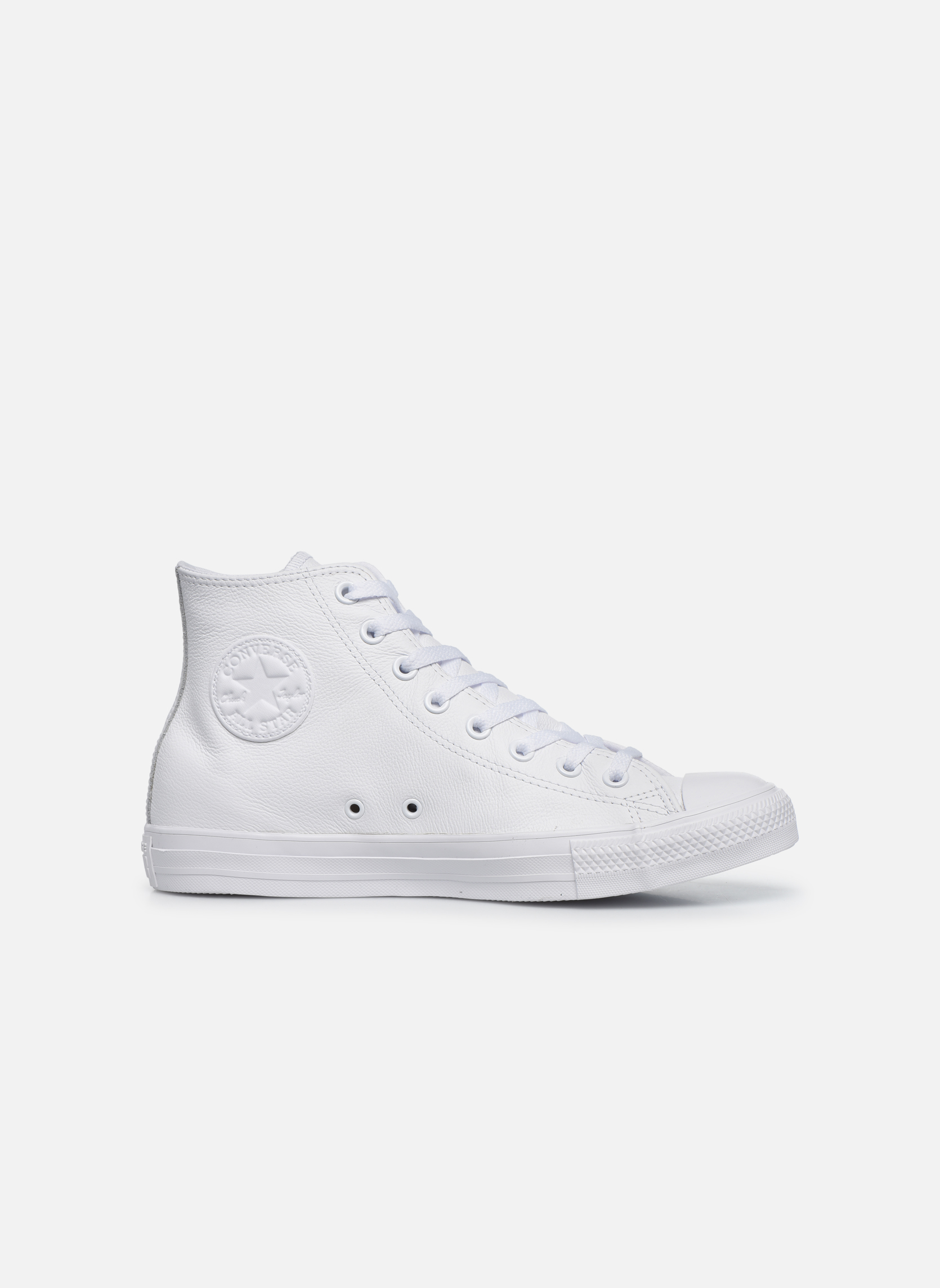 Baskets Converse Chuck Taylor All Star Mono Leather Hi W Blanc vue derrière