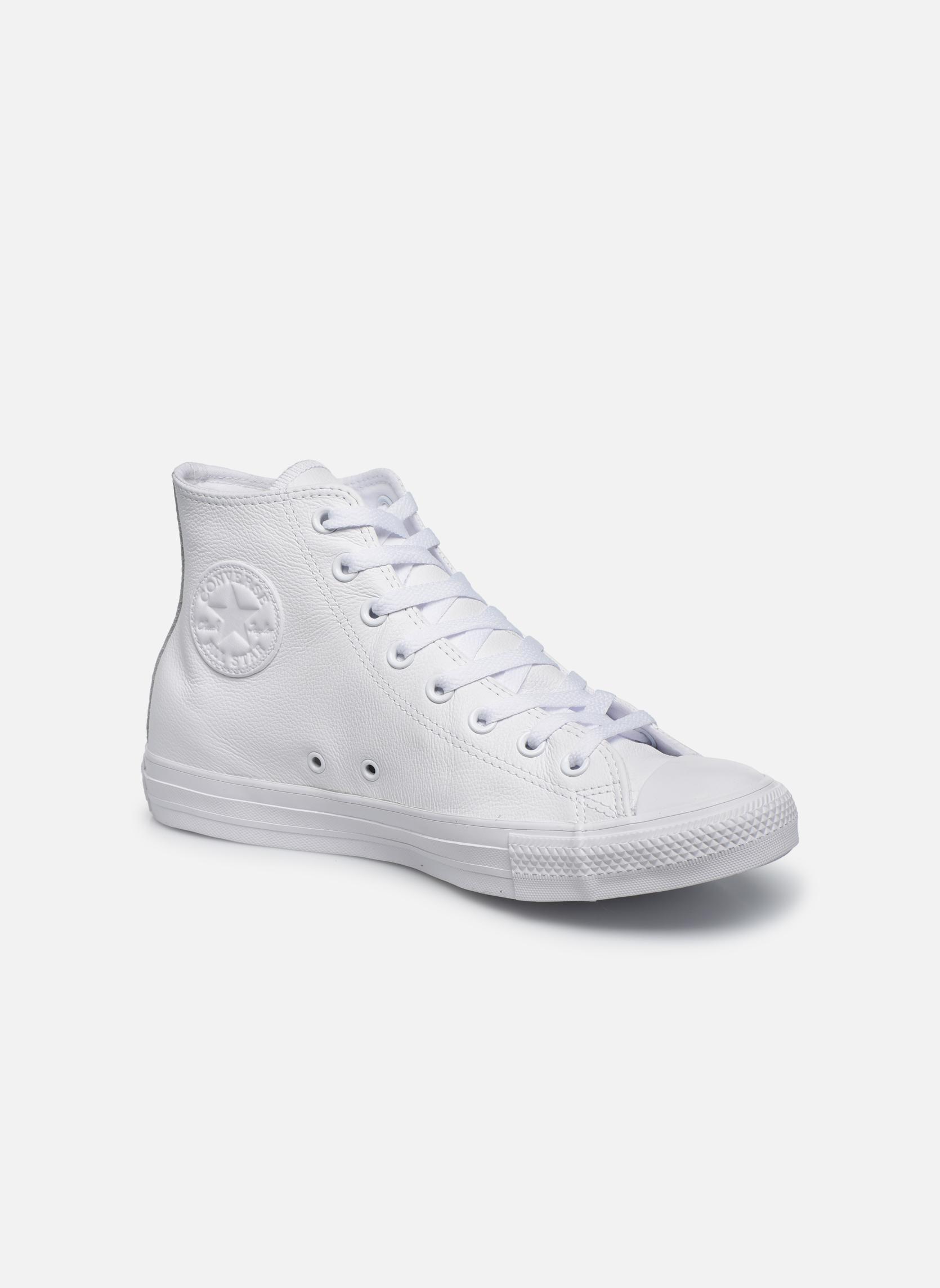 Baskets Converse Chuck Taylor All Star Mono Leather Hi W Blanc vue détail/paire