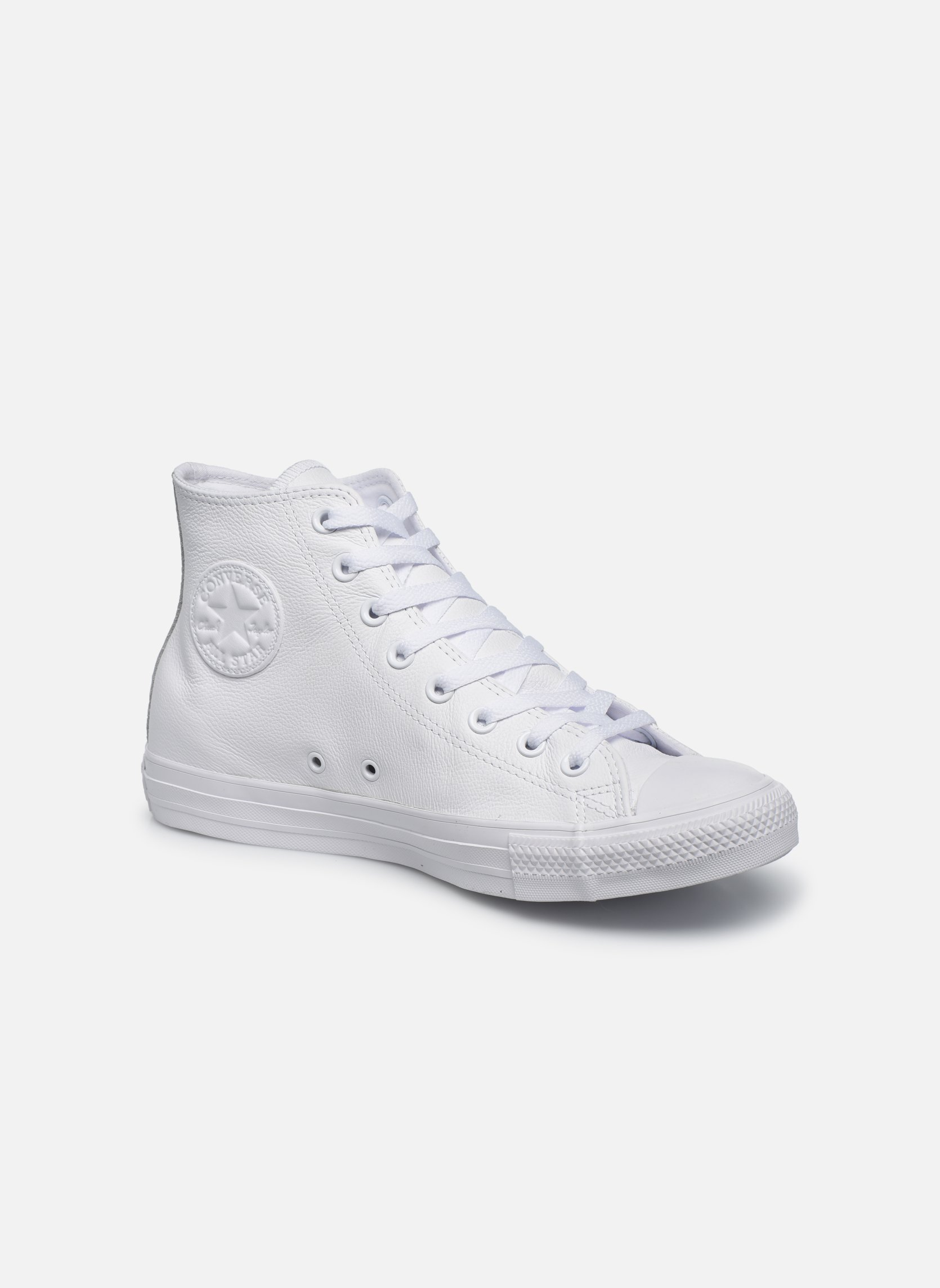 Baskets Converse Chuck Taylor All Star Mono Leather Hi W Blanc vue détail/paire