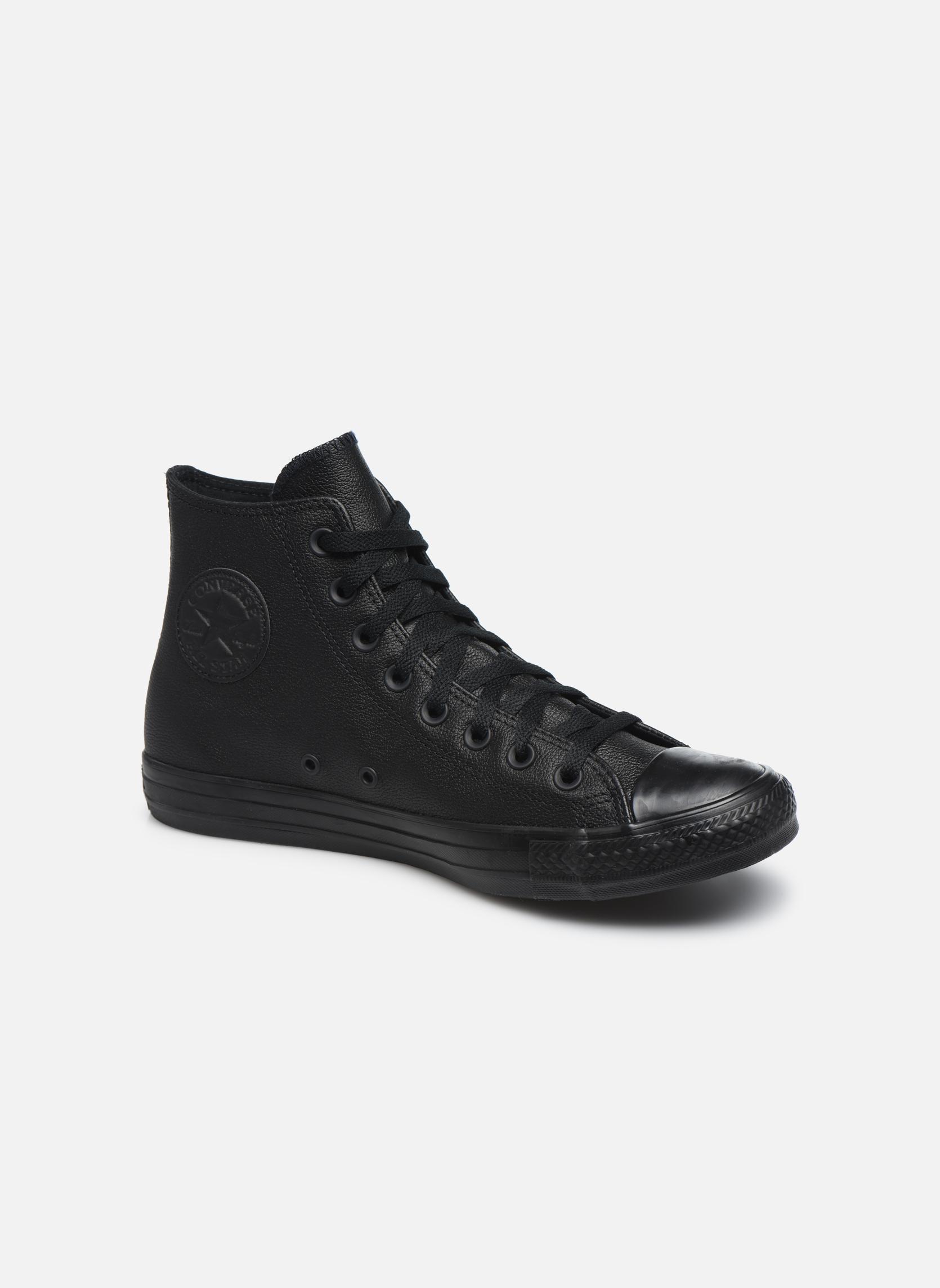 Converse Chuck Taylor All Star Mono Leather Hi M Negro D6PJu