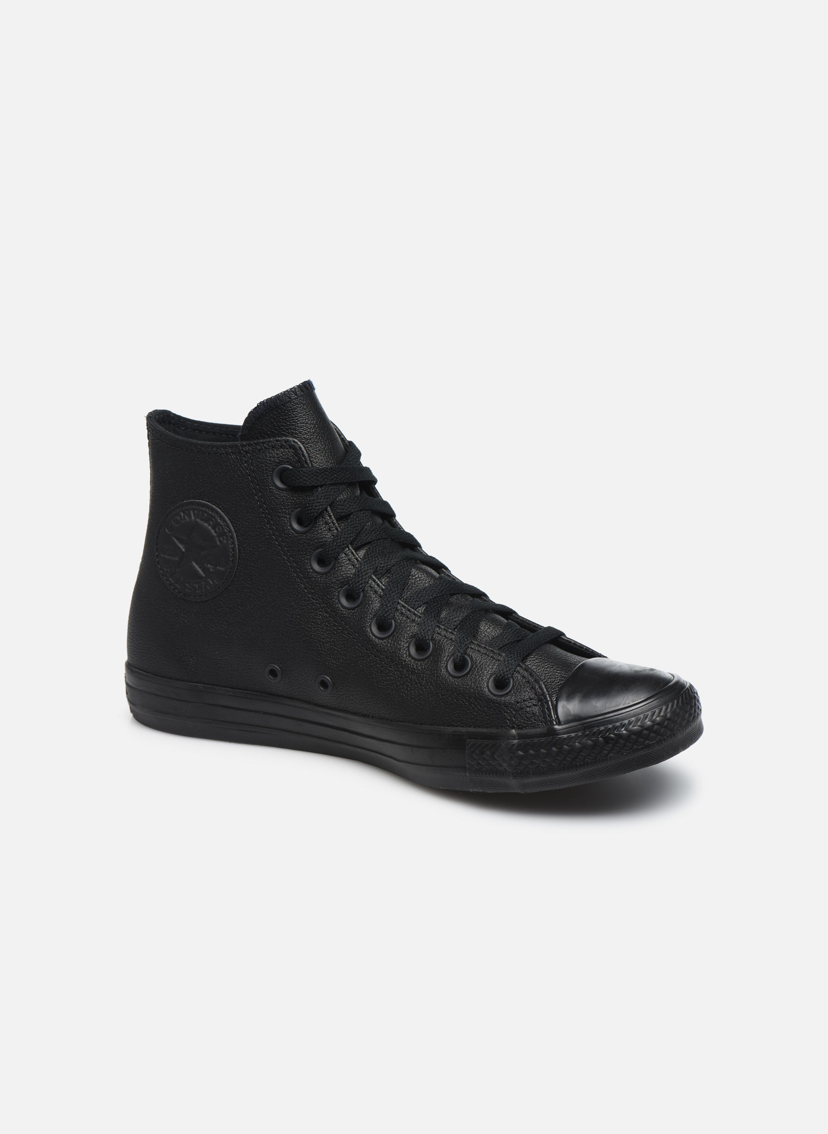 Sneakers Converse Chuck Taylor All Star Mono Leather Hi M Svart detaljerad bild på paret