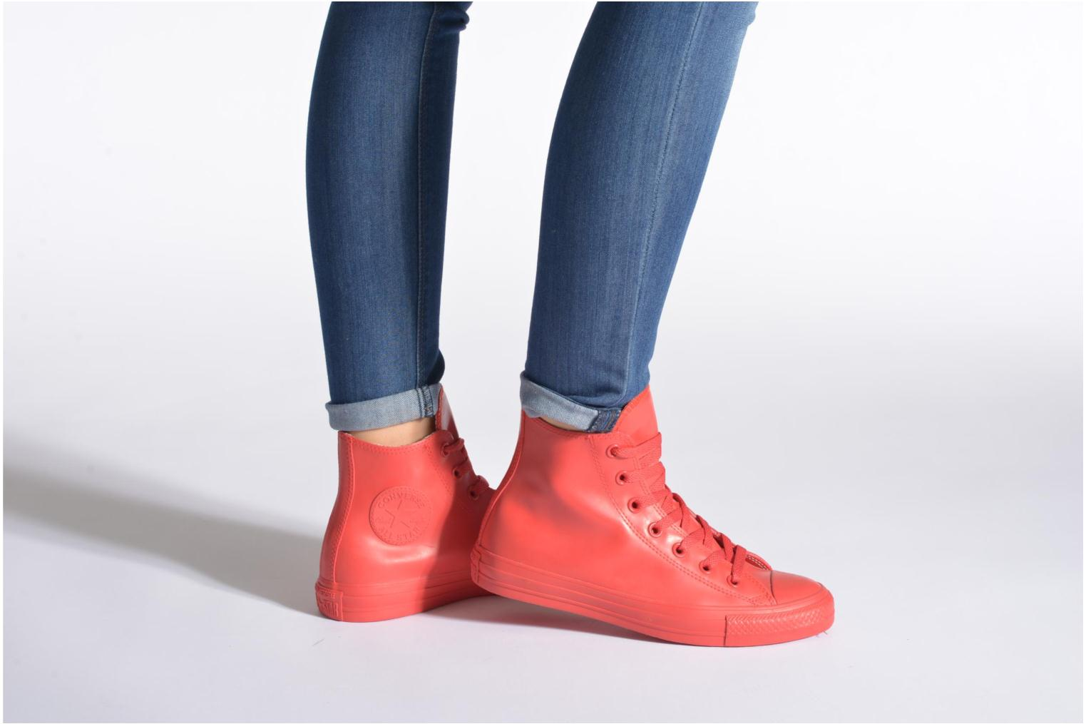 Trainers Converse Chuck Taylor All Star Rubber Hi W Red view from underneath / model view
