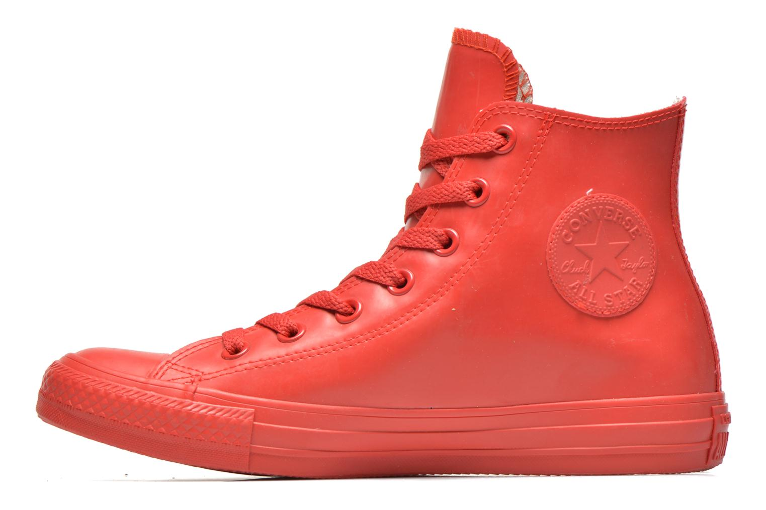 Sneakers Converse Chuck Taylor All Star Rubber Hi W Rød se forfra