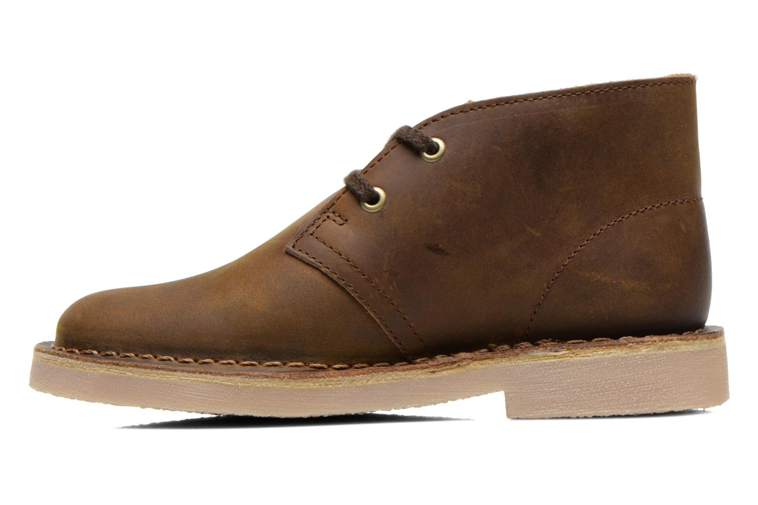 Chaussures à lacets Clarks Desert Boot Boy Marron vue face