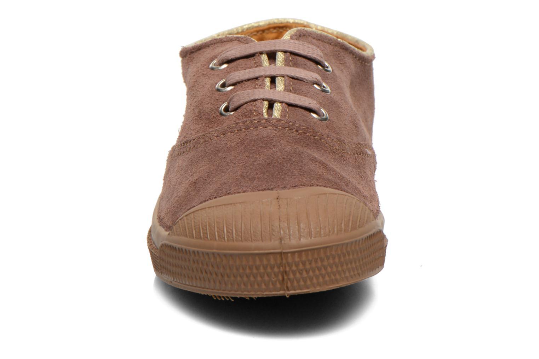 Baskets Bensimon Tennis Suedpiping E Marron vue portées chaussures