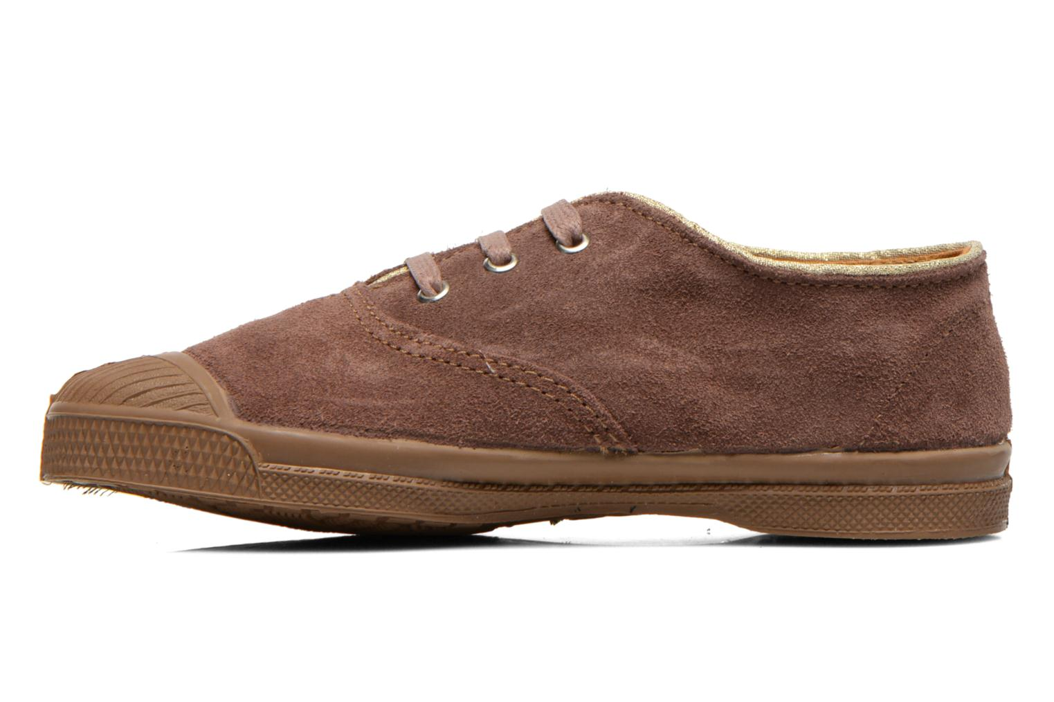 Trainers Bensimon Tennis Suedpiping E Brown front view