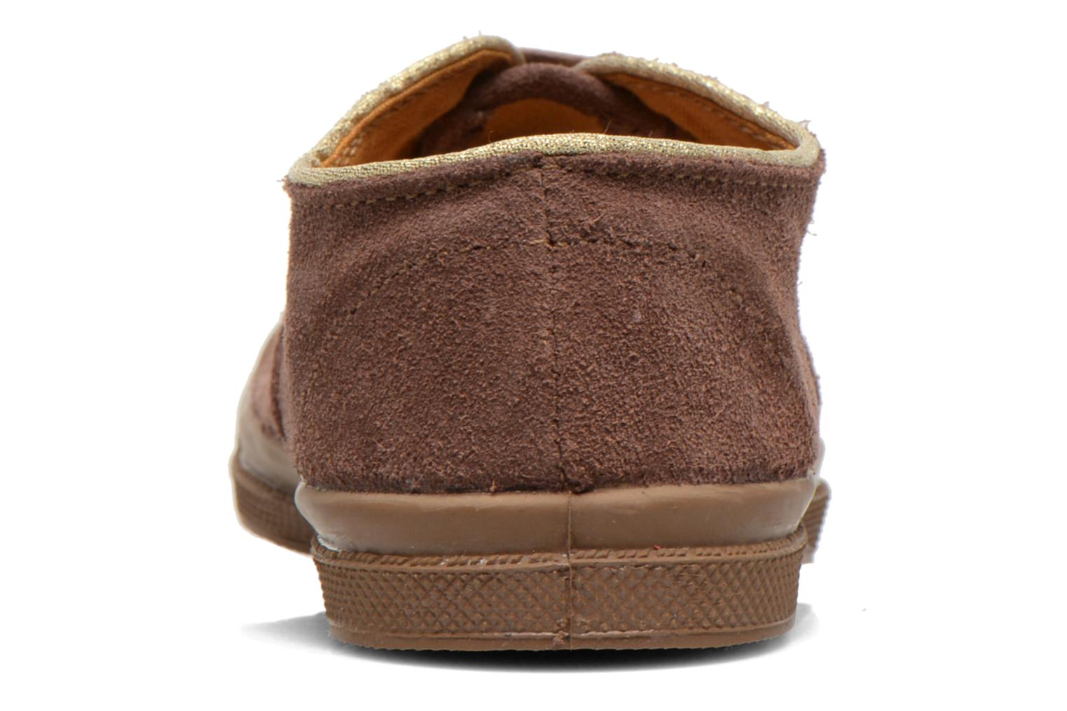 Trainers Bensimon Tennis Suedpiping E Brown view from the right