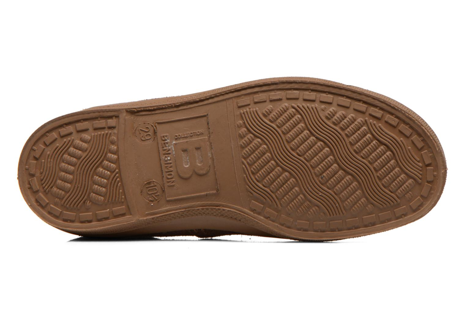 Trainers Bensimon Tennis Suedpiping E Brown view from above
