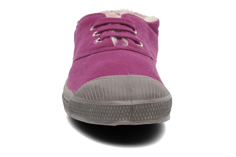 Sneakers Bensimon Tennis Lacets Fourrées E Vinröd bild av skorna på