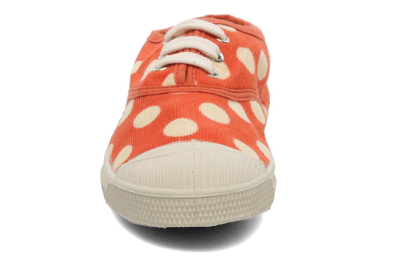 Baskets Bensimon Tennis Velours Pois E Orange vue portées chaussures