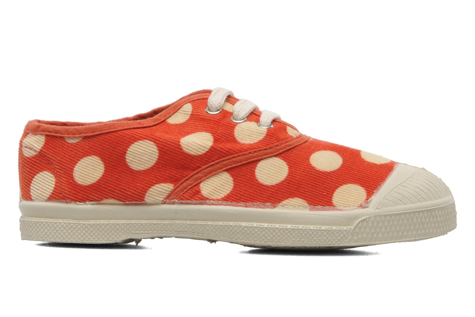 Tennis Velours Pois E Orange