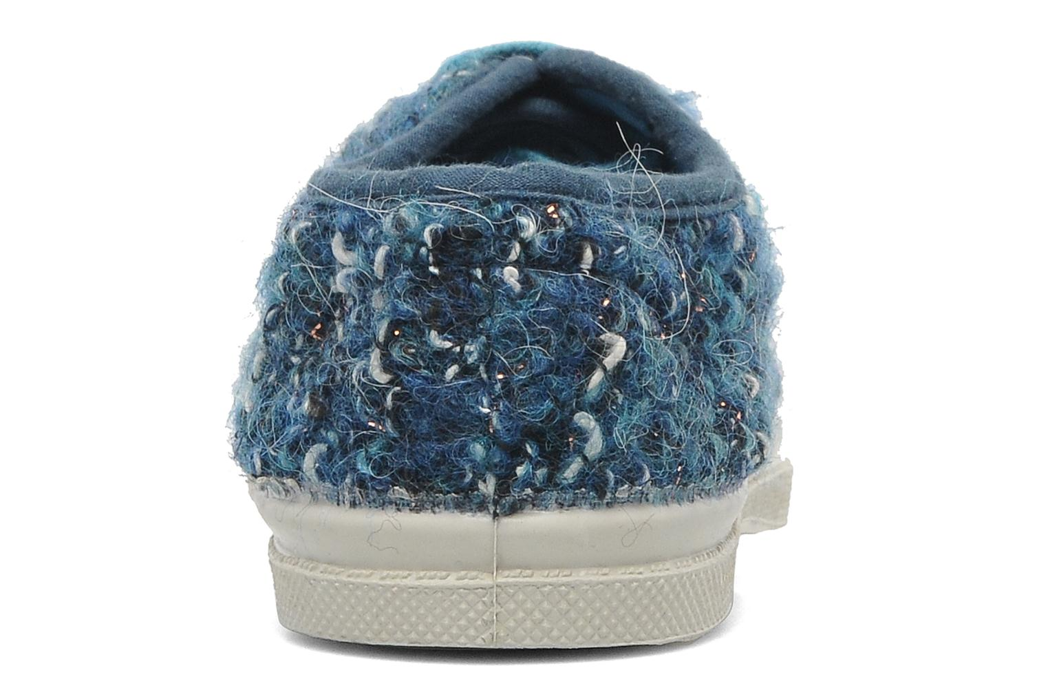 Trainers Bensimon Tennis Tweedy E Blue view from the right