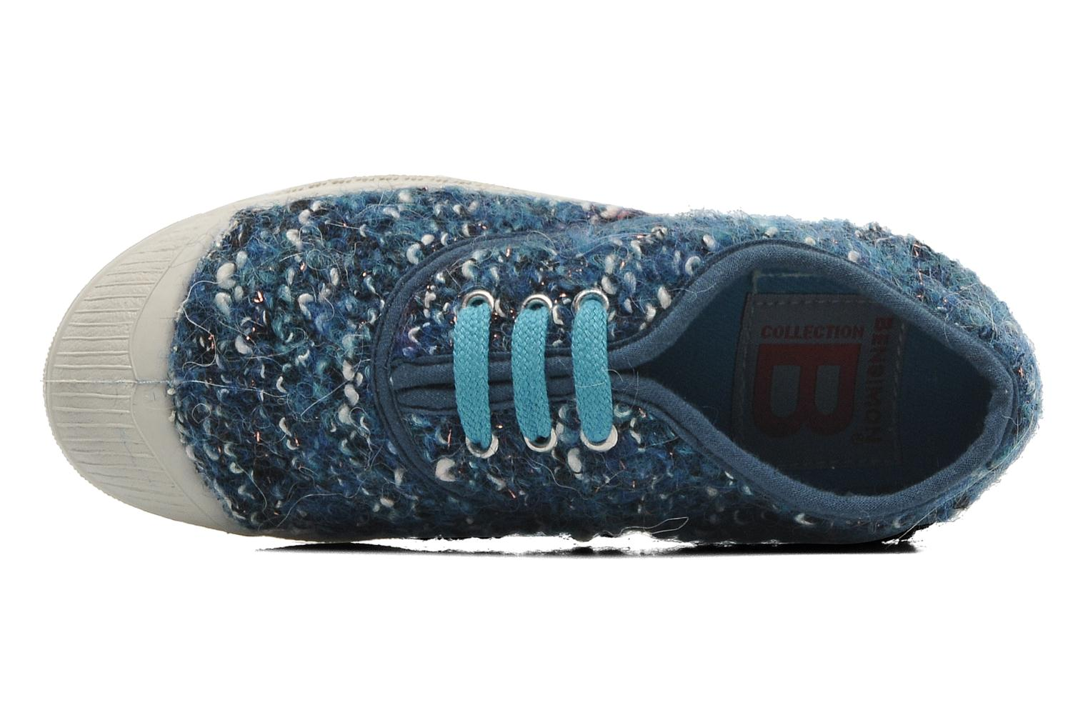 Trainers Bensimon Tennis Tweedy E Blue view from the left