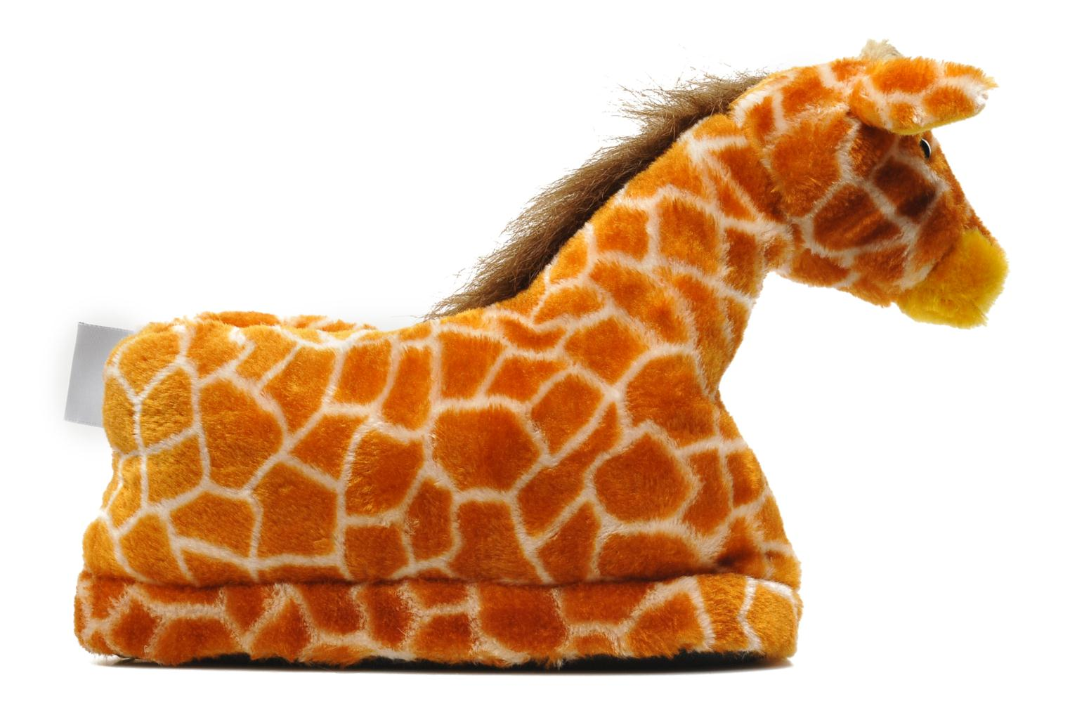 Slippers Sleeperz Giraffes Brown back view