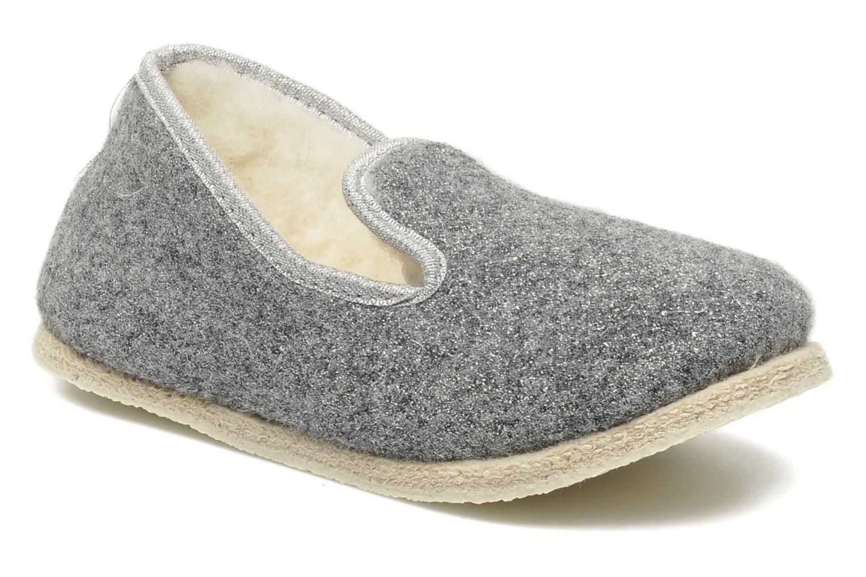 Slippers Rondinaud Muizon-P Grey detailed view/ Pair view