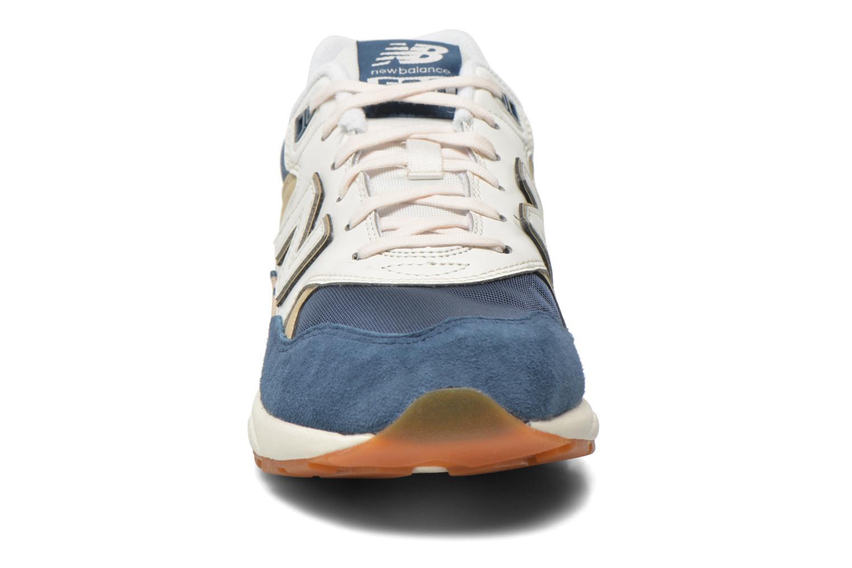 Sneaker New Balance WRT580 blau schuhe getragen