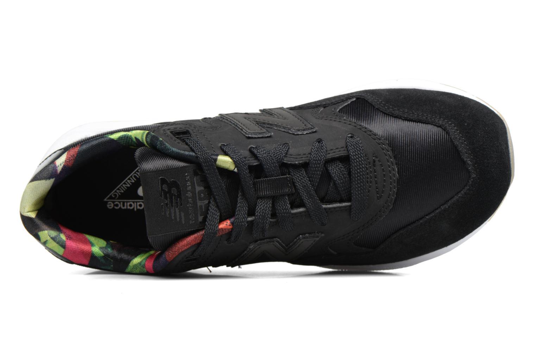 Sneaker New Balance WRT580 schwarz ansicht von links