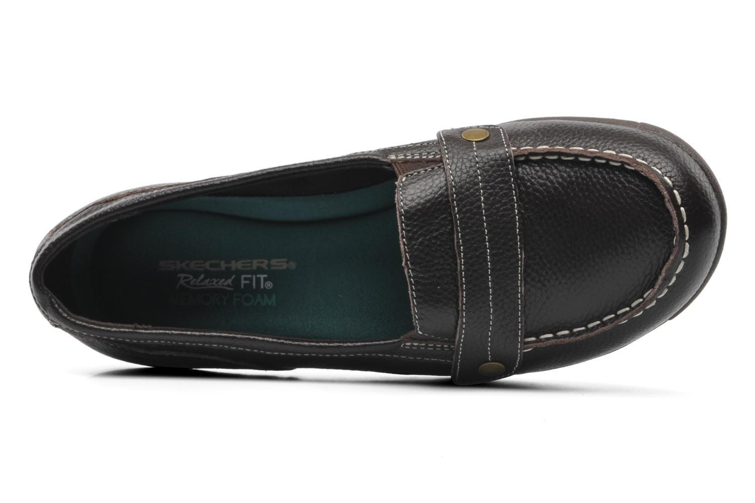 Loafers Skechers Career 48986 Brown view from the left