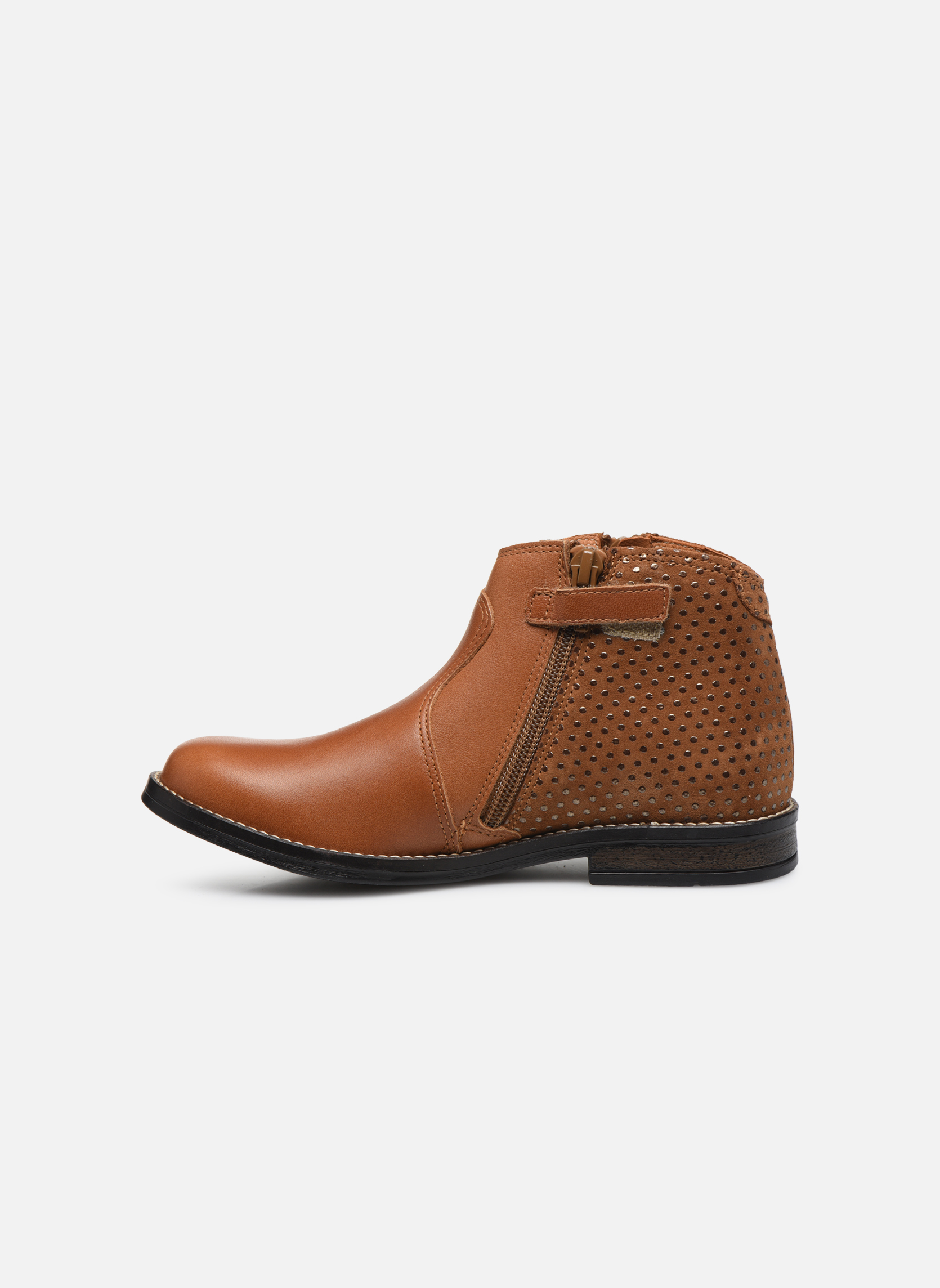 Ankle boots Babybotte Kenza Brown front view
