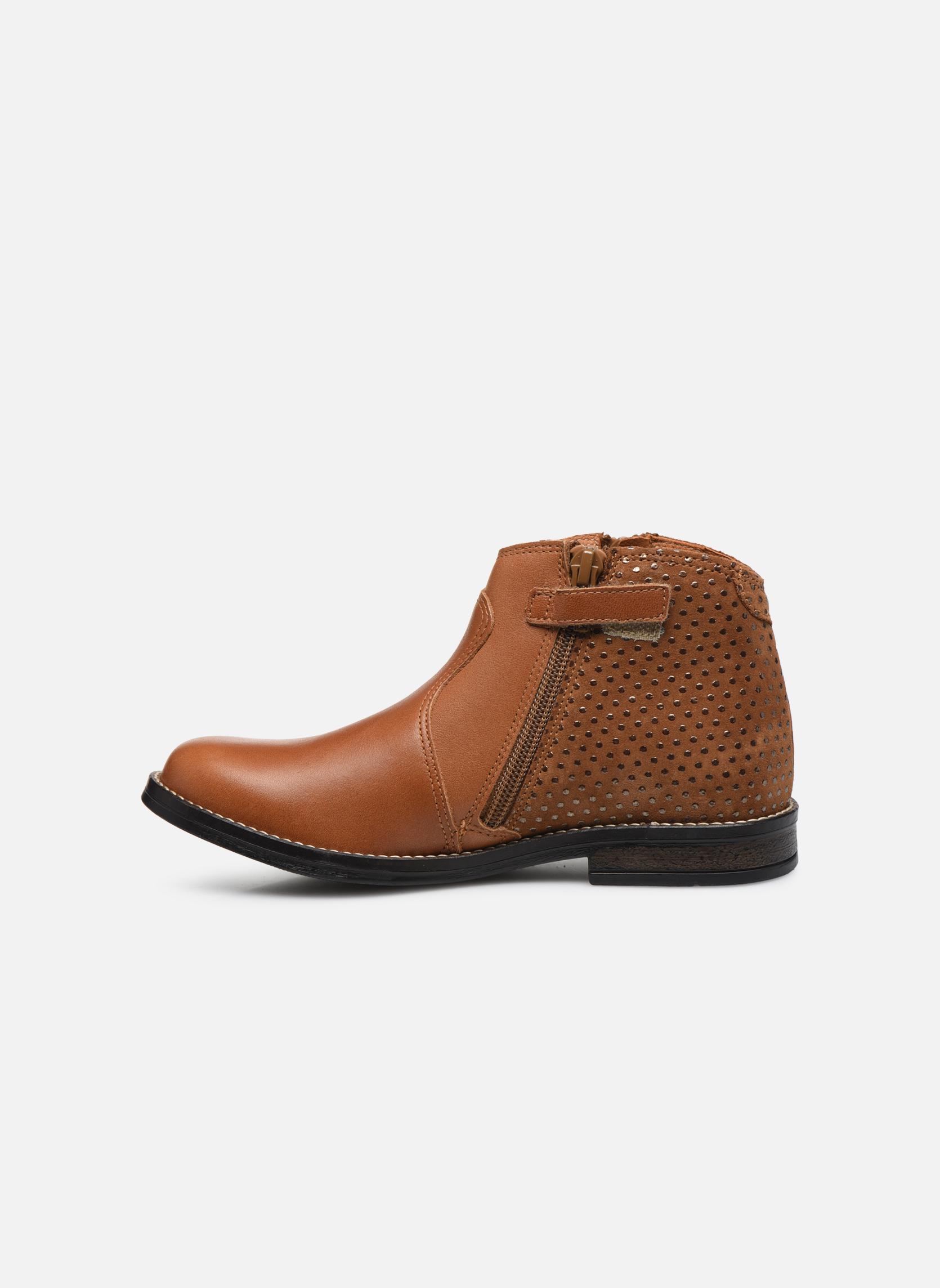Bottines et boots Babybotte Kenza Marron vue face