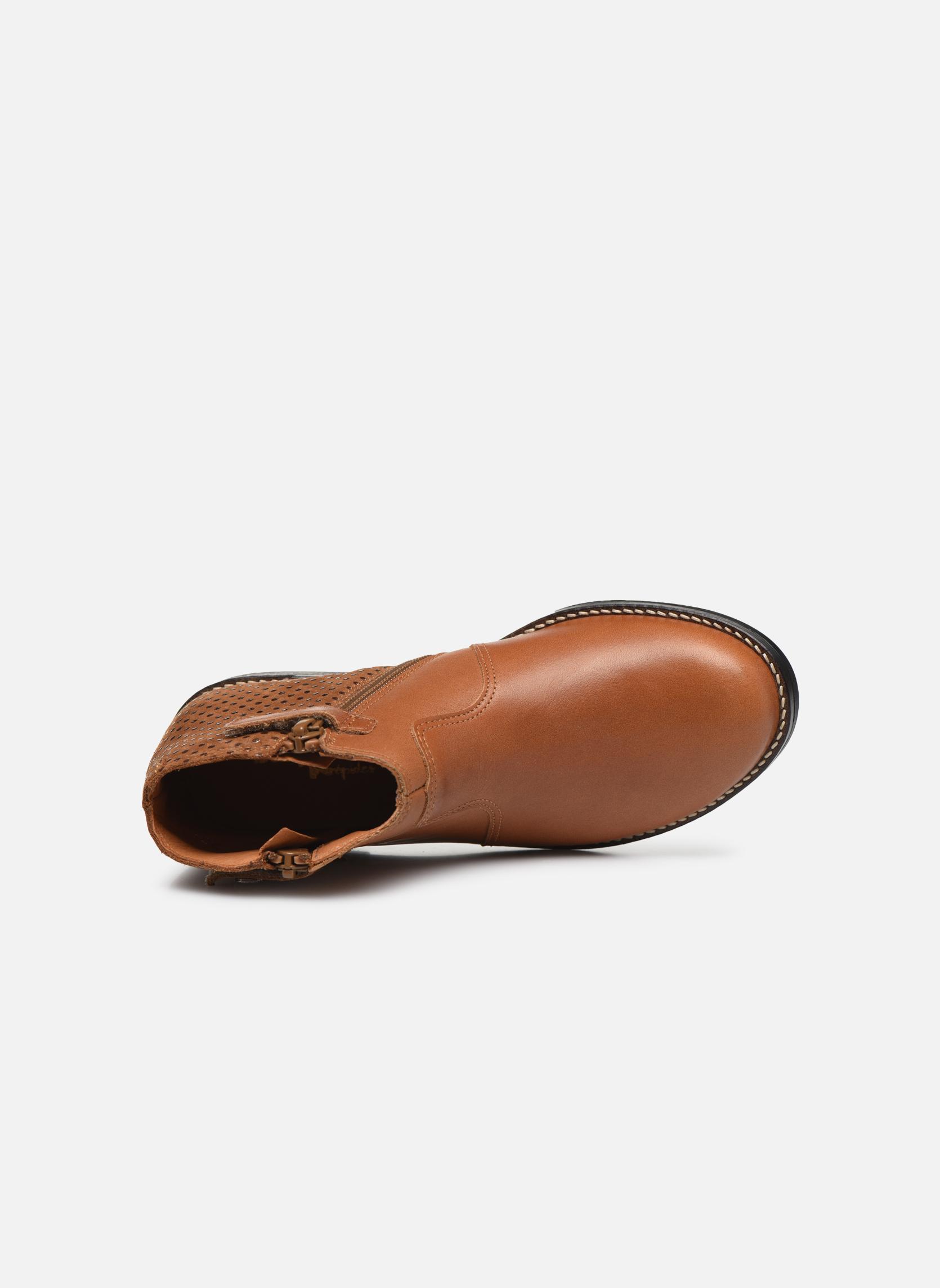 Bottines et boots Babybotte Kenza Marron vue gauche