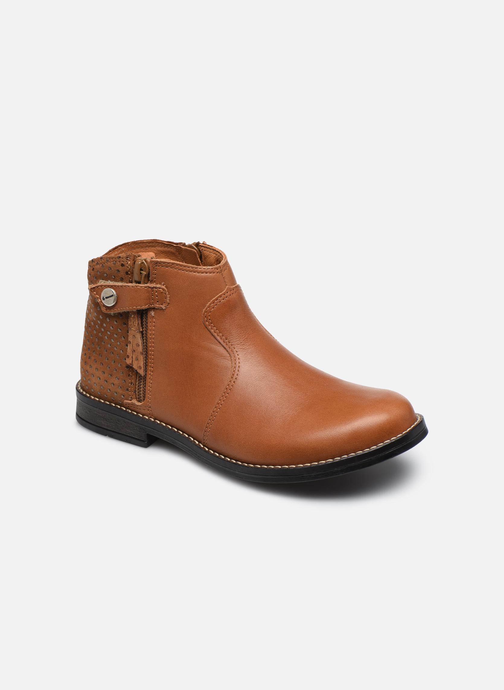 Ankelstøvler Babybotte Kenza Brun detaljeret billede af skoene