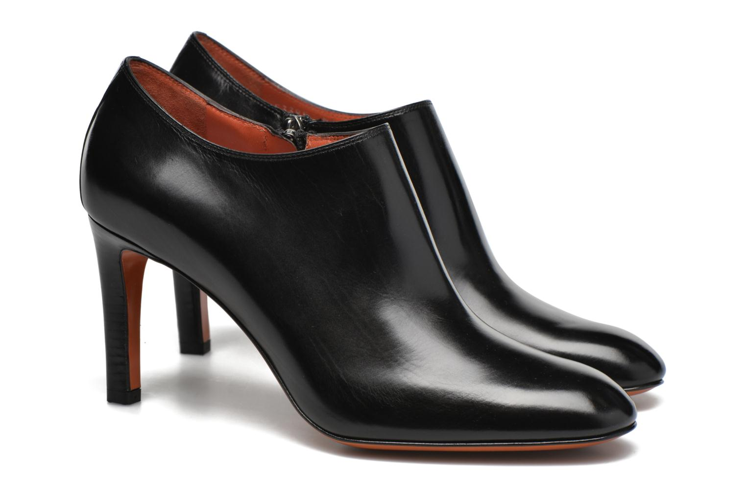 Ankle boots Santoni Moss 53259 INVISIBLE MAUVAISE REF Black 3/4 view