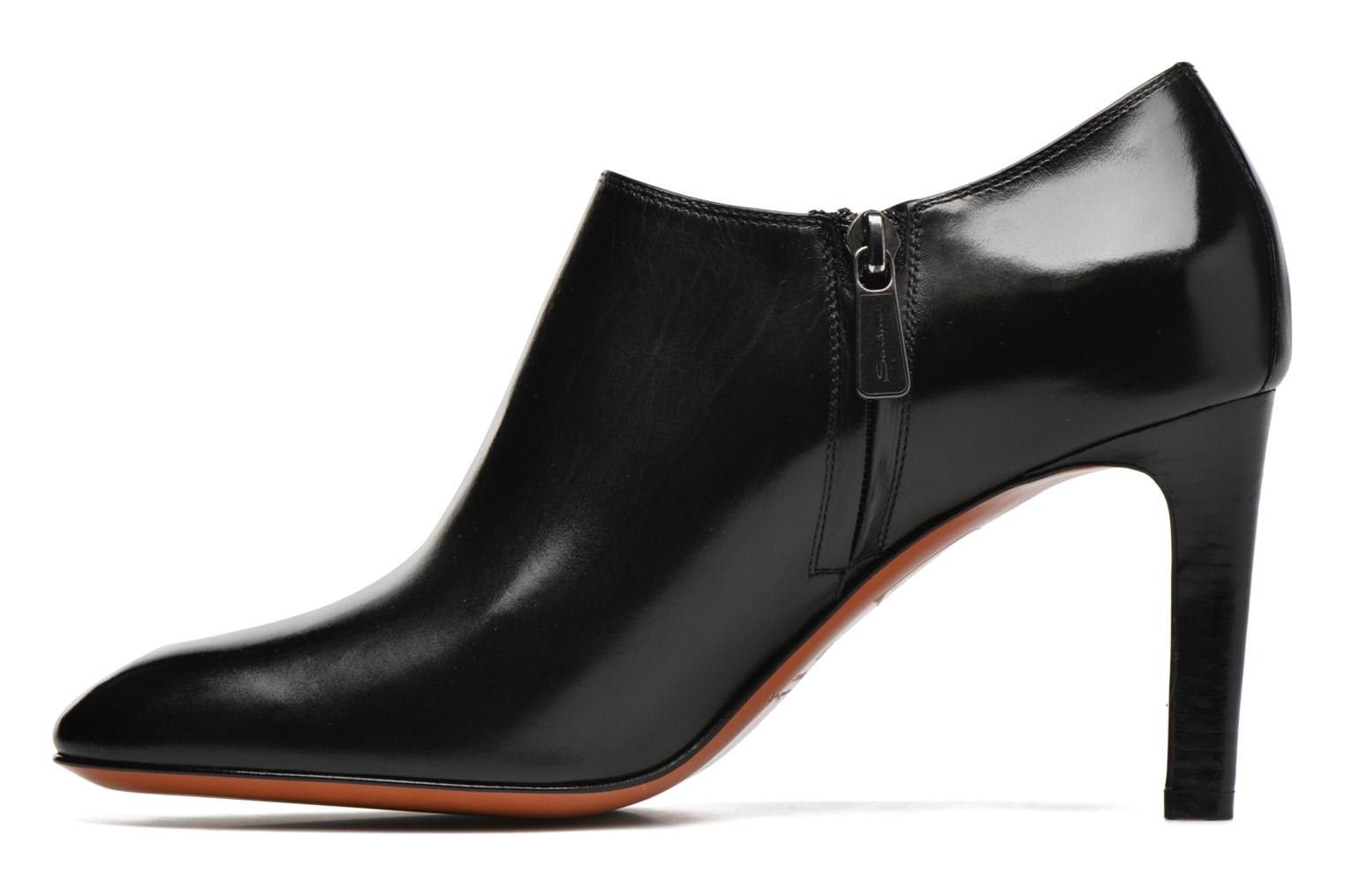 Ankle boots Santoni Moss 53259 INVISIBLE MAUVAISE REF Black front view