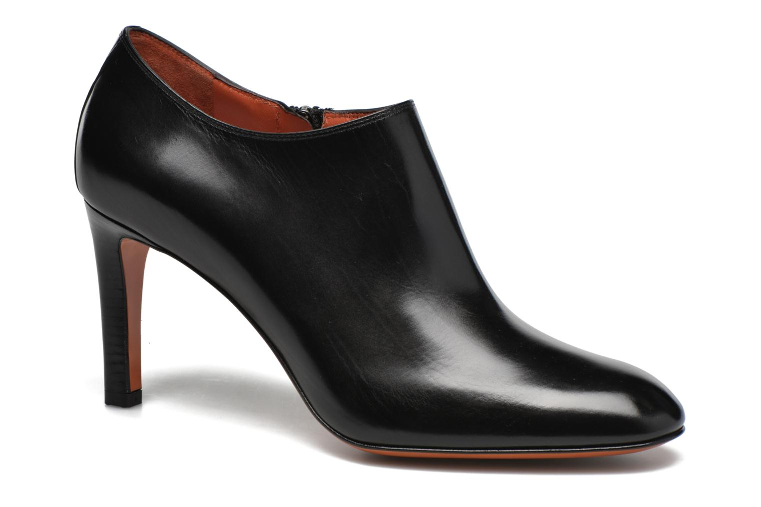 Ankle boots Santoni Moss 53259 INVISIBLE MAUVAISE REF Black detailed view/ Pair view