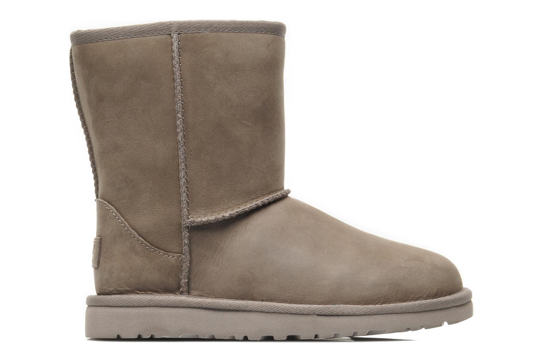 Stiefel UGG K Classic Short Leather grau ansicht von hinten