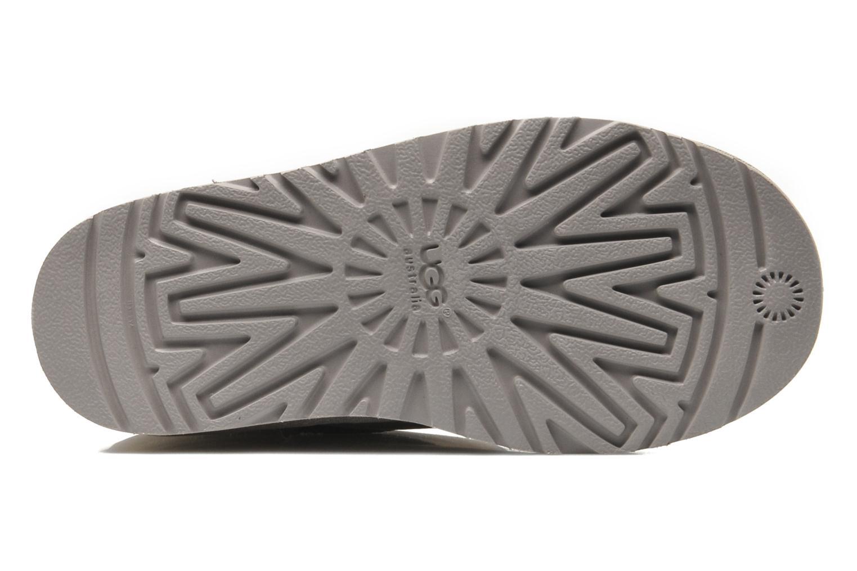 Bottes UGG K Classic Short Leather Gris vue haut