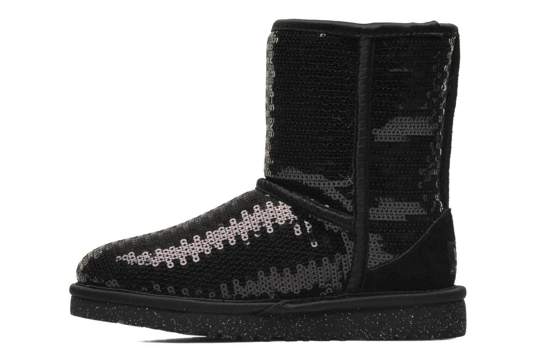 Laarzen UGG K Classic Short Sparkles Zwart voorkant