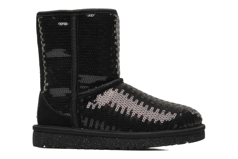 Laarzen UGG K Classic Short Sparkles Zwart achterkant
