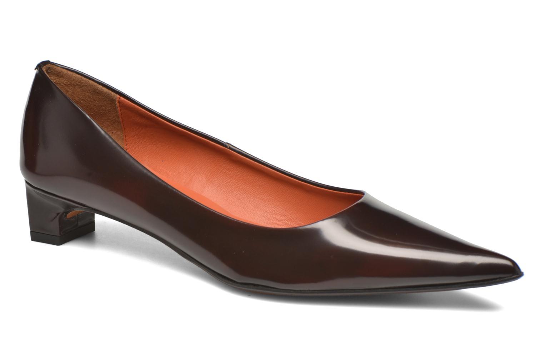Høje hæle Elizabeth Stuart Orthez 308 Bordeaux detaljeret billede af skoene