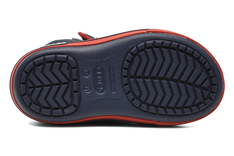 Bottes Crocs Crocband II.5 Gust Boot Kids Bleu vue haut