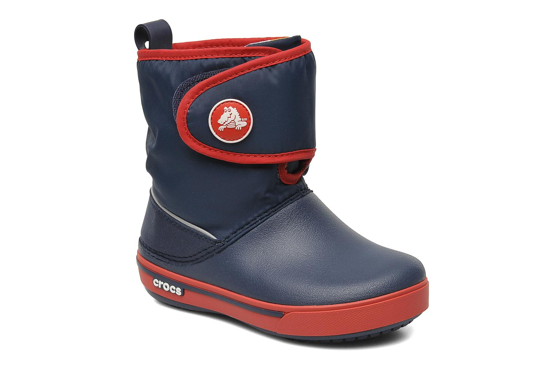 Botas Crocs Crocband II.5 Gust Boot Kids Azul vista de detalle / par