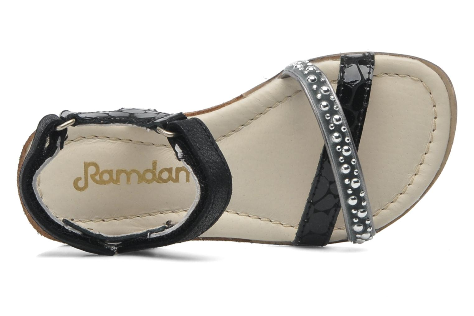 Sandalen Ramdam by GBB Brasilia Zwart links