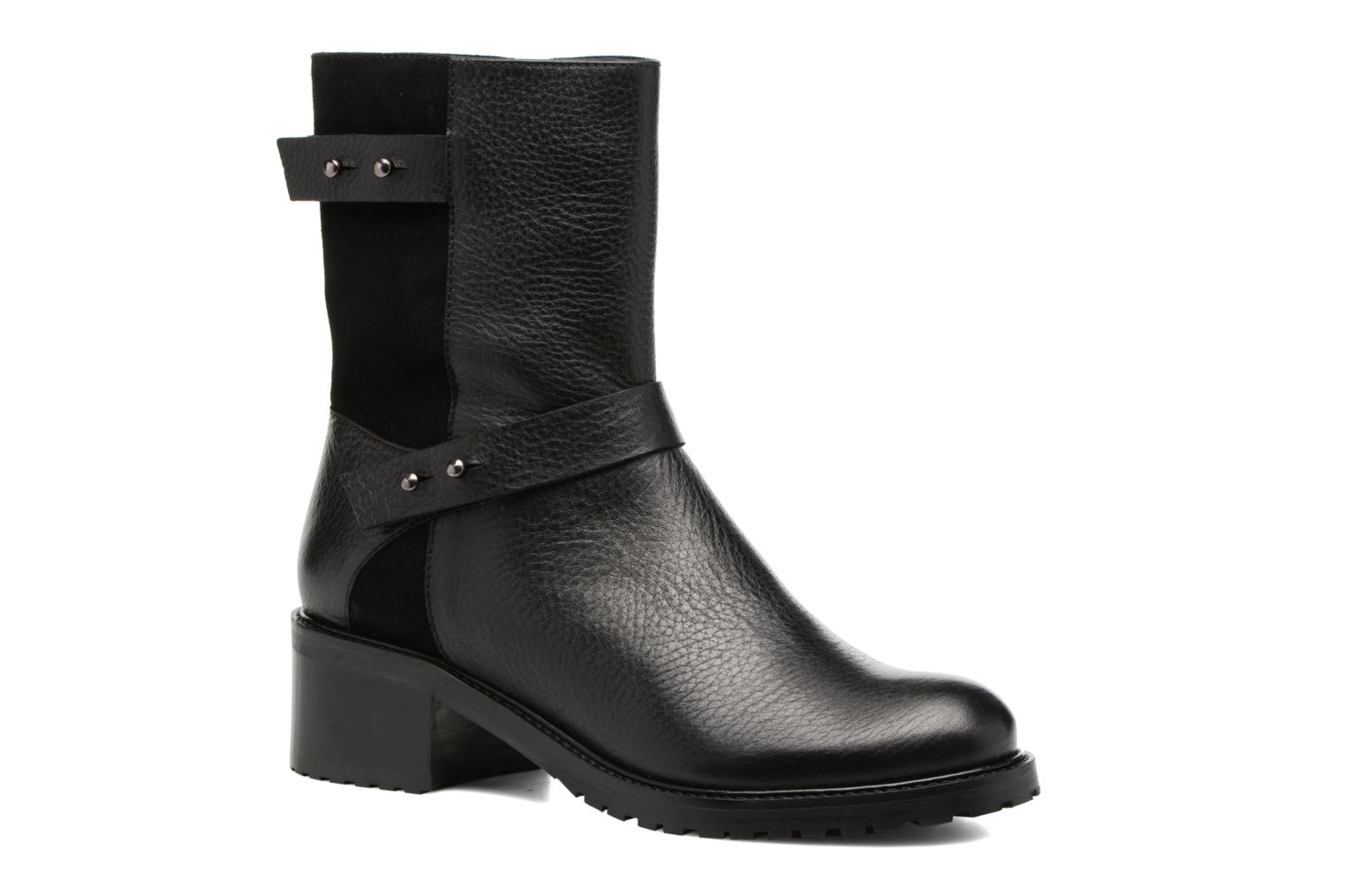 Ankle boots Anaki Paul Black detailed view/ Pair view