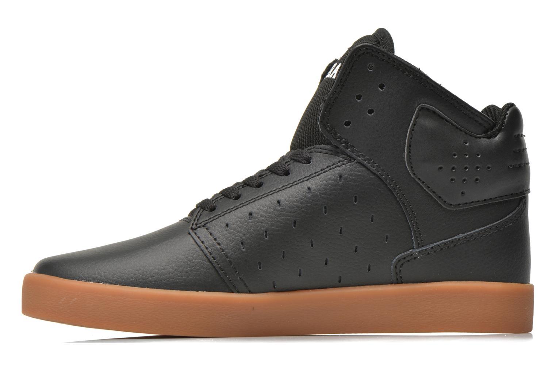 Sneaker Supra Atom Kids schwarz ansicht von vorne