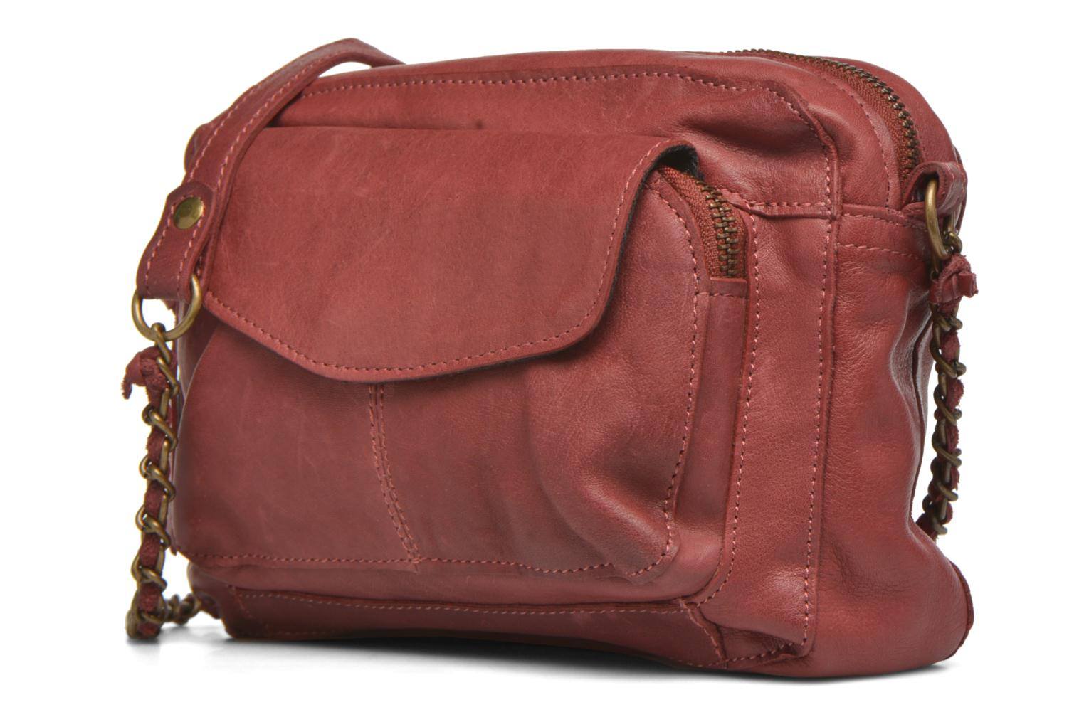 Handtassen Pieces Naina leather Crossover new Bordeaux model