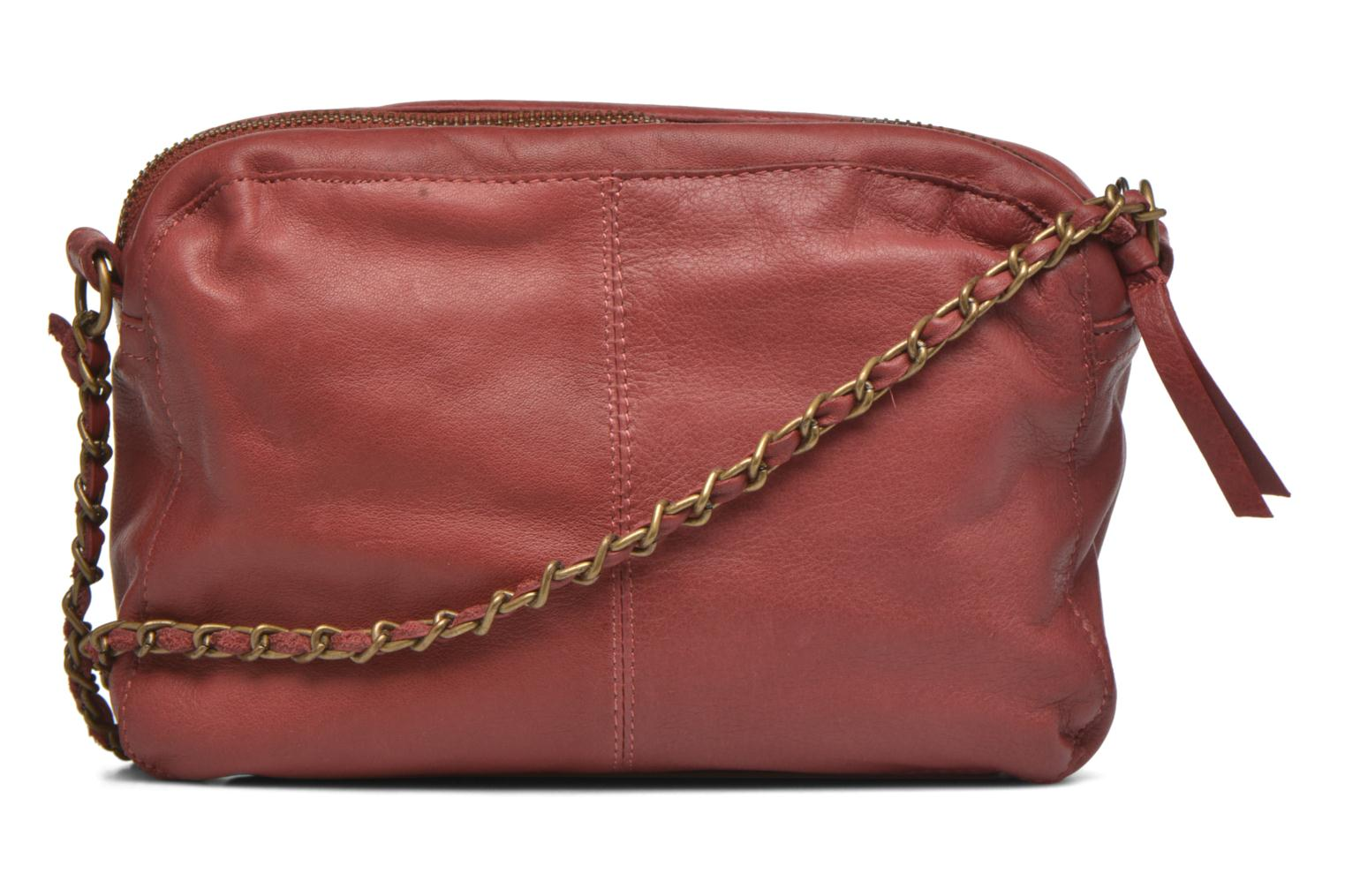 Handtassen Pieces Naina leather Crossover new Bordeaux voorkant