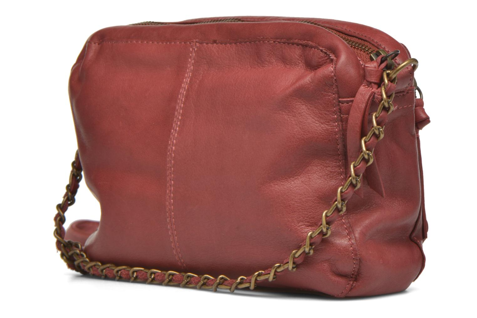 Handtassen Pieces Naina leather Crossover new Bordeaux rechts