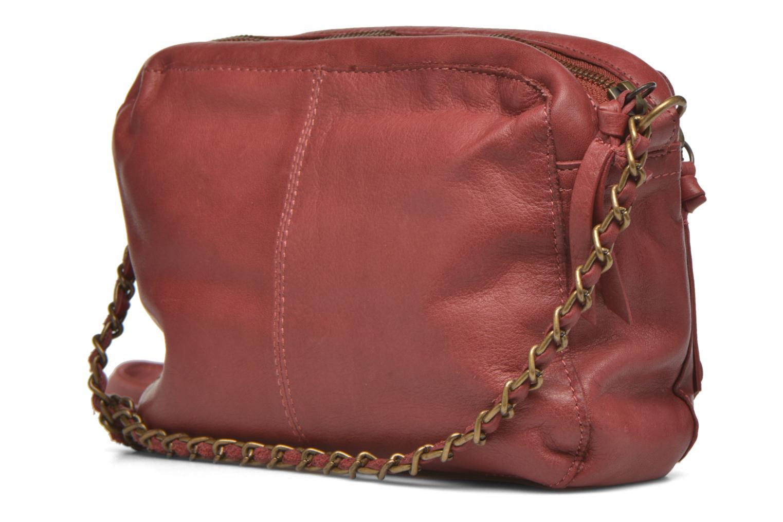 Sacs à main Pieces Naina leather Crossover new Bordeaux vue droite