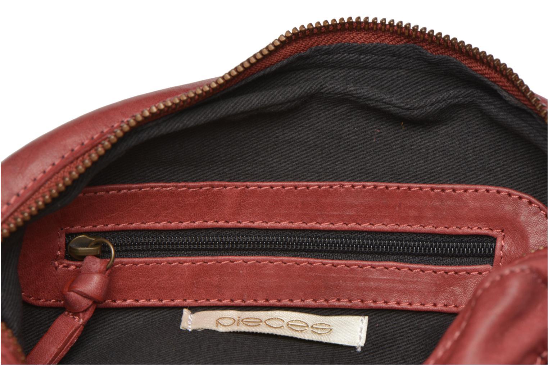 Handtassen Pieces Naina leather Crossover new Bordeaux achterkant