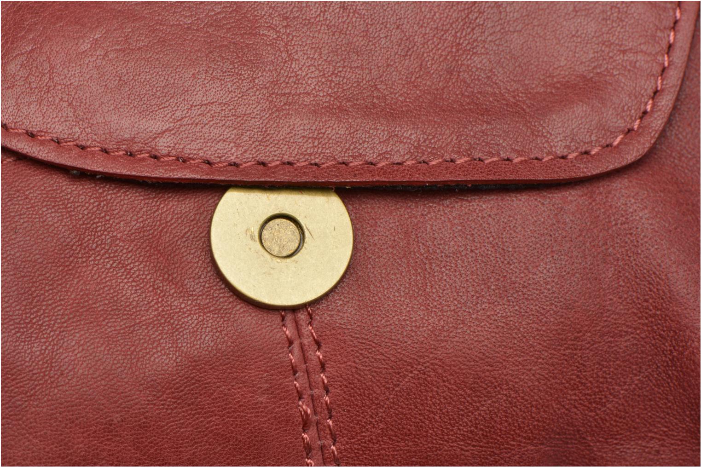 Sacs à main Pieces Naina leather Crossover new Bordeaux vue gauche