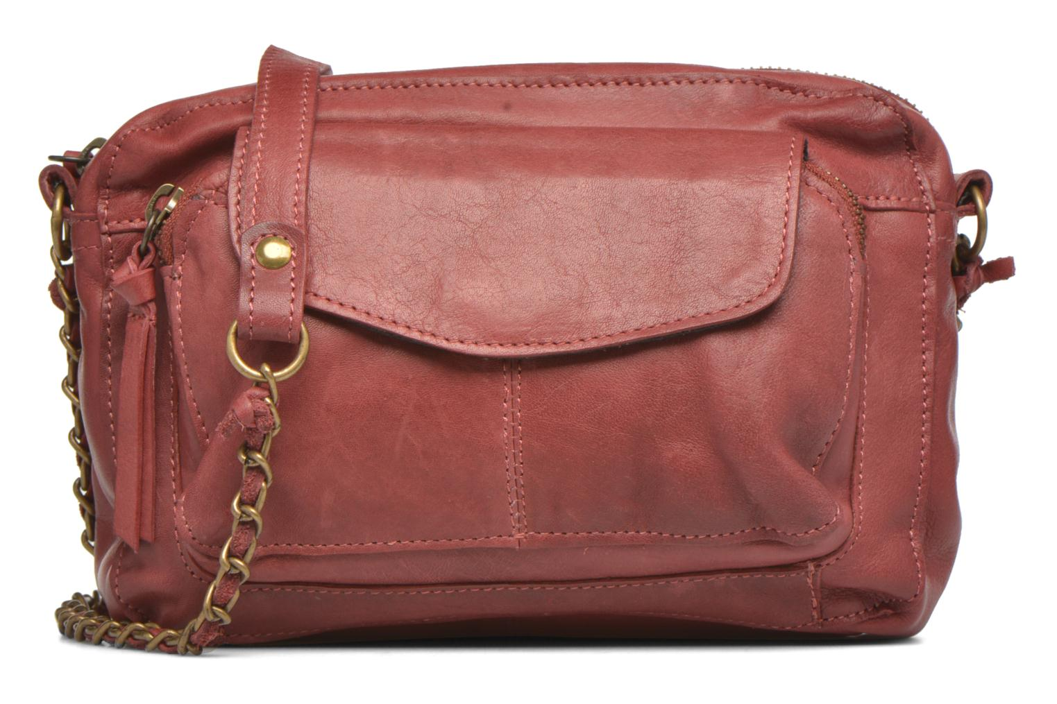 Handtassen Pieces Naina leather Crossover new Bordeaux detail